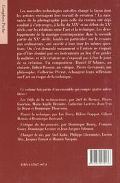 L'Art Au Risque De La Technique - 4ème de couverture - Format classique