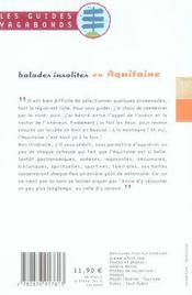 Balades Insolites En Aquitaine - 4ème de couverture - Format classique