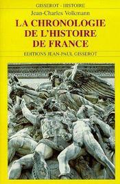 La Chronologie De L'Histoire De France - Couverture - Format classique