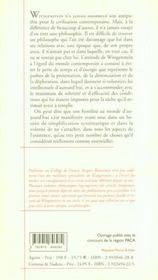 Essais 1/wittgenstein, la modernite, le progres et le d - 4ème de couverture - Format classique