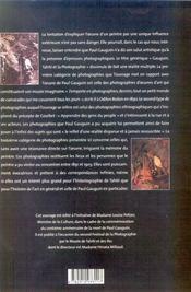 Gauguin, Tahiti Et L A Photographie - 4ème de couverture - Format classique