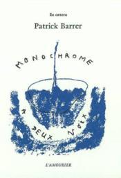Monochrome A Deux Voix - Couverture - Format classique