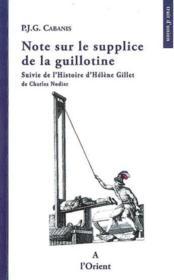 Note sur le supplice de la guillotine - Couverture - Format classique