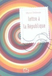 Lettre à la République - Couverture - Format classique