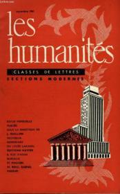 Les Humanites - Classe De Lettres Sections Modernes - Septembre 1961 - Couverture - Format classique