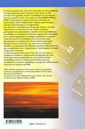 Exercices De Physique A Themes Exercices Corriges Mpsi Pcsi Ptsi 1er Cycle Universitaire - 4ème de couverture - Format classique