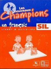 Nouveaux champions francais activites sil - Couverture - Format classique