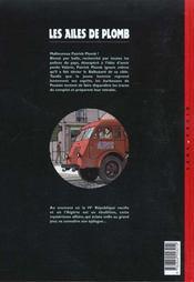 Les ailes de plomb t.3 ; l'affaire est dans le sac - 4ème de couverture - Format classique