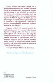Analyse Fonctionnelle Elementaire - 4ème de couverture - Format classique