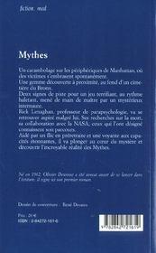 Mythes - 4ème de couverture - Format classique
