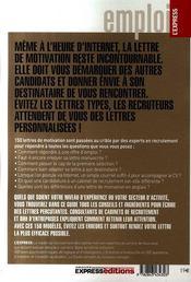 150 Lettres Motiv Comment Corr - 4ème de couverture - Format classique