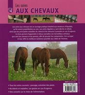 Les soins des chevaux - 4ème de couverture - Format classique