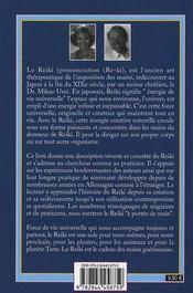 Reiki ; guéris toi-même - 4ème de couverture - Format classique