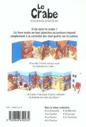 Le Crabe Et Les Animaux Du Bord De Mer - 4ème de couverture - Format classique