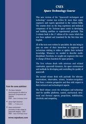 Cnes Space Technology Course ; Spacecraft Techniques And Technology - 4ème de couverture - Format classique
