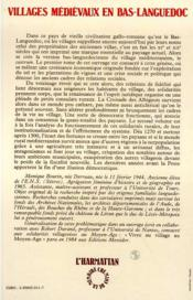 Villages Medievaux En Bas-Languedoc T.2 ; La Democratie Au Village - 4ème de couverture - Format classique