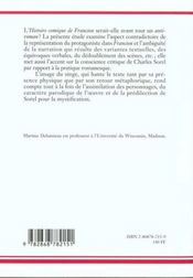 Le proces du roman ; écriture et contrefacon chez Charles Sorel - 4ème de couverture - Format classique