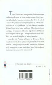 Contre Les Lois Pasqua - 4ème de couverture - Format classique