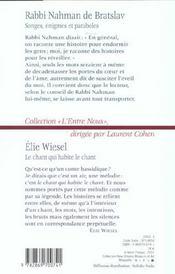 Songes Visions Enigmes Et Paraboles ; Le Chant Qui Habite Le Chant - 4ème de couverture - Format classique