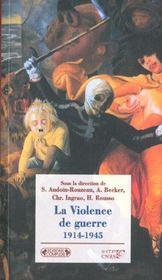 La violence de guerre ; 1914-1945 - Intérieur - Format classique