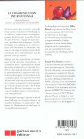 La Communication Internationale - 4ème de couverture - Format classique