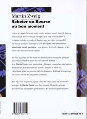 Acheter En Bourse Au Bon Moment - 4ème de couverture - Format classique