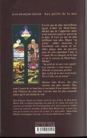Aux Perils De La Mer - 4ème de couverture - Format classique