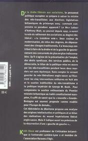 Un abecedaire du blairisme - 4ème de couverture - Format classique
