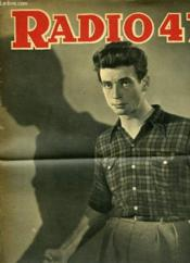 Radio 47 N°162 4eme Annee - Yves Montand - Couverture - Format classique