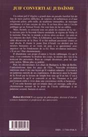 Juif Converti Au Judaisme - 4ème de couverture - Format classique