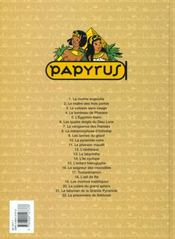 Papyrus t.17 ; toutankhamon - 4ème de couverture - Format classique