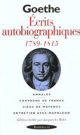 La révolution et l'empire ; écrits autobiographiques 1789-1815 - Intérieur - Format classique