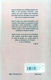 Demeure Le Corps - Chant D'Execration - 4ème de couverture - Format classique