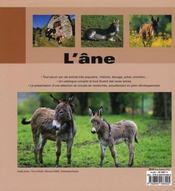 L'âne - 4ème de couverture - Format classique
