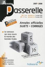 Passerelle Esc 2007 ; Annales Du Concours - Intérieur - Format classique