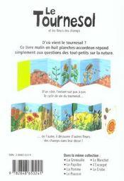 Le Tournesol Et Les Fleurs Des Champs - 4ème de couverture - Format classique