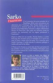 Sarko l'américain - 4ème de couverture - Format classique
