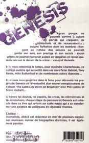 Genesis ; L'Eternelle Revelation - 4ème de couverture - Format classique