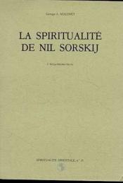 Spiritualite de Nil Sorskij - Couverture - Format classique