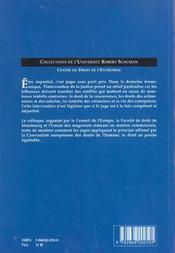 Impartialite Et Justice Economique En Europe. Colloque Organise Par L E Centre Du Droit De L'Entrepr - 4ème de couverture - Format classique