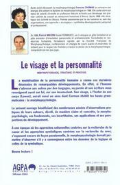 Visage Et La Personnalite (Le) - 4ème de couverture - Format classique