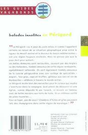 Balades Insolites En Perigord - 4ème de couverture - Format classique
