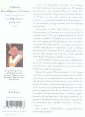 La république planétaire - 4ème de couverture - Format classique