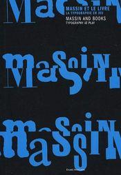 Massin and books : typography at play ; massin et le livre : la typographie en jeu - Intérieur - Format classique