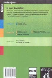 Aventure Jeune-Le Secret Du Jean Bart-Niv.3 - 4ème de couverture - Format classique