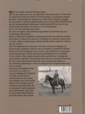 Calamity Jane Mémoires de l'Ouest - 4ème de couverture - Format classique