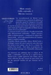 Livre mots crois s grilles confortables t 3 michel - Grille mots croises michel laclos gratuites ...