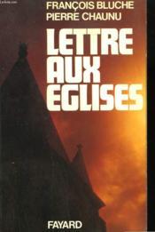 Lettre Aux Eglises. - Couverture - Format classique