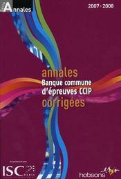 Annales banque ; commune d'épreuves CCIP - Intérieur - Format classique