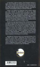 Le Costa Rica - 4ème de couverture - Format classique